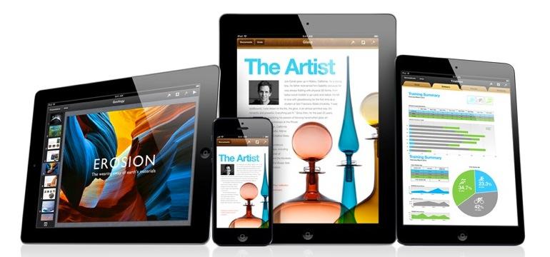La suite iWork, iPhoto e iMovie gratuitas en iOS