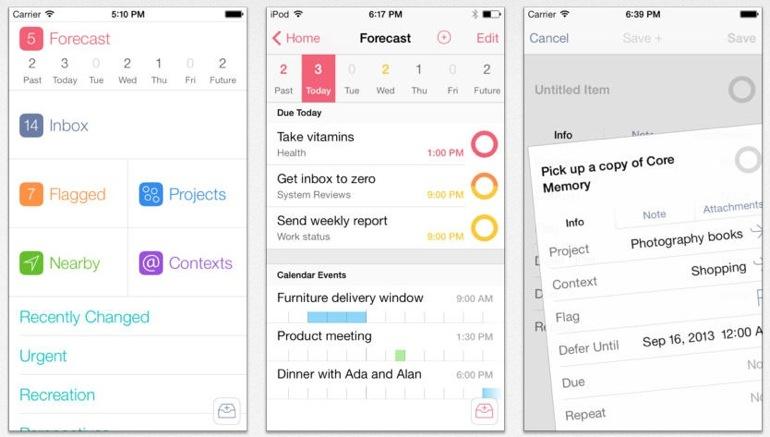 Omnifocus 2 para iOS 7