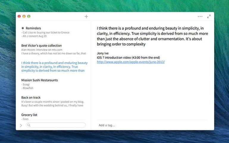 Simplenote, un Dropbox para notas y textos
