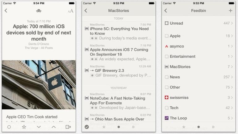 Reeder 2 para iPhone e iPad