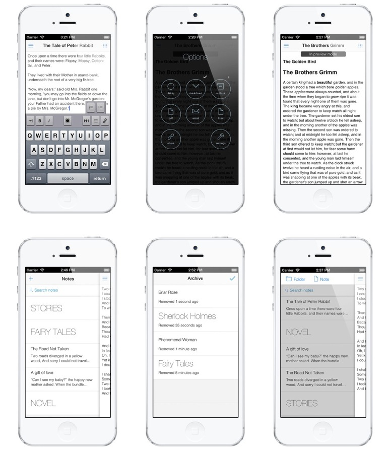 Wordbox, el editor para iOS 7