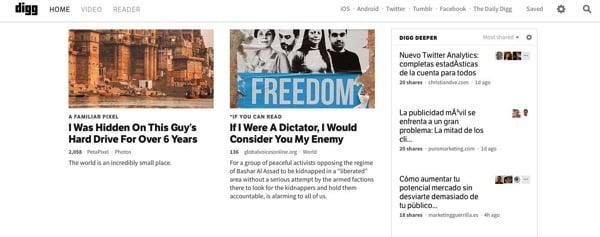Digg Deeper filtra los enlaces más compartidos de tu timeline de Twitter